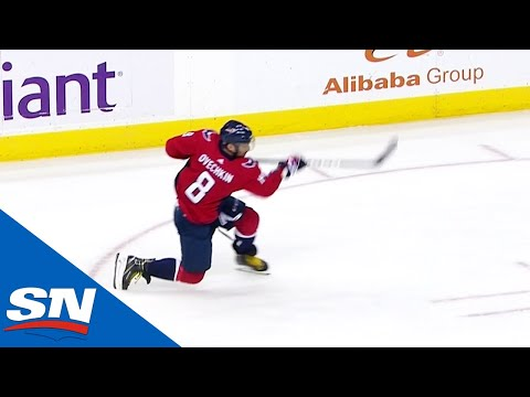 Alex Ovechkin Scores Two Power Play Goals From Nearly The Same Spot