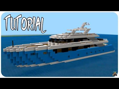Minecraft: Super Yacht 4 Tutorial | How To Build A Yacht In Minecraft