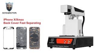 iPhone X/Xmax back cover glass repair by laser separator machine removal without disassembling