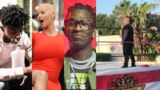 Amber Rose Responds To Cheating on 21 With His Homie Rum0r! Thug Taunts C0p! Stitches Turns Wrestler