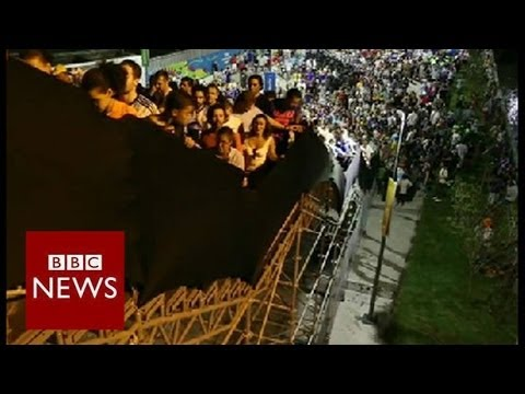 "Maracana's ""rickety"" staircase - Brazil World Cup 2014 - BBC News"