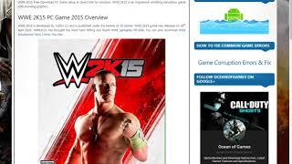 كيفية تحميل لعبة WWE2K15 للكمبيوتر
