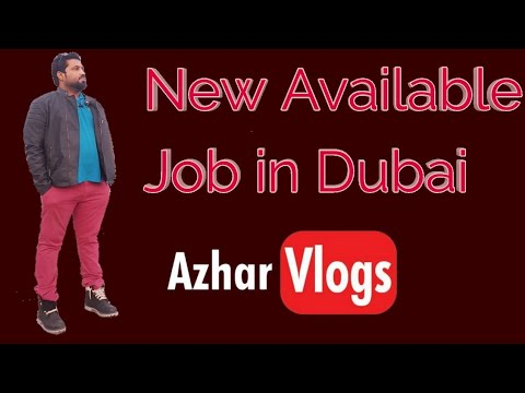 04 | New Available Job in Dubai | 7000 AED Per Month