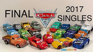 Final Cars 3 MATTEL 1:55 Scale Singles of 2017! Disney-Pixar Die-Cast Unboxing Review