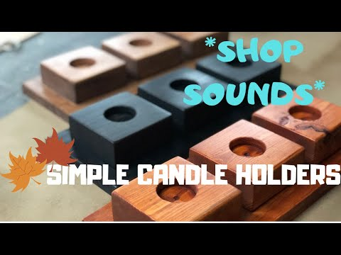 Easy Wooden Candle Holders| Beginners Woodworking