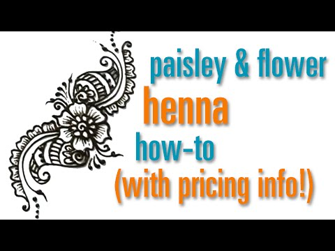 How to Draw a Flower & Paisley Henna / Mehndi design : festival pricing