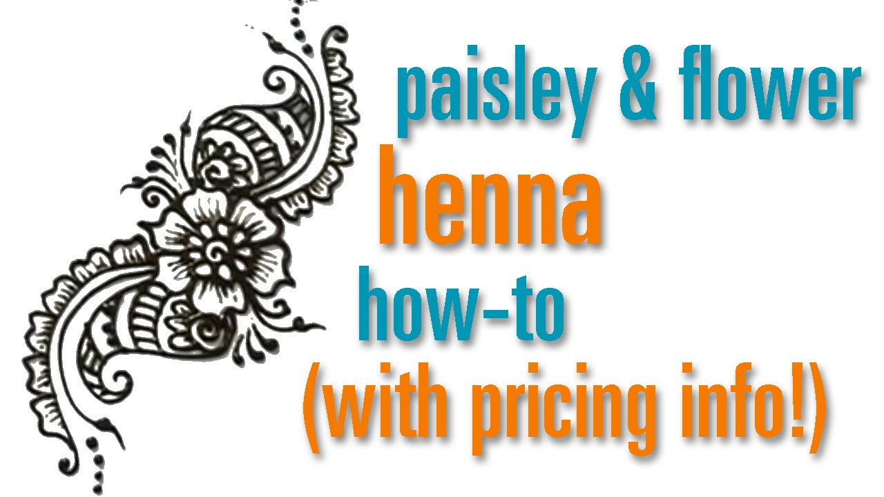How to Draw a Flower & Paisley Henna / Mehndi design : festival ...