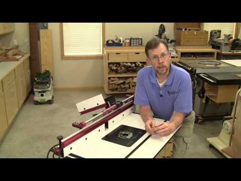 Router Table Starter Pin Storage