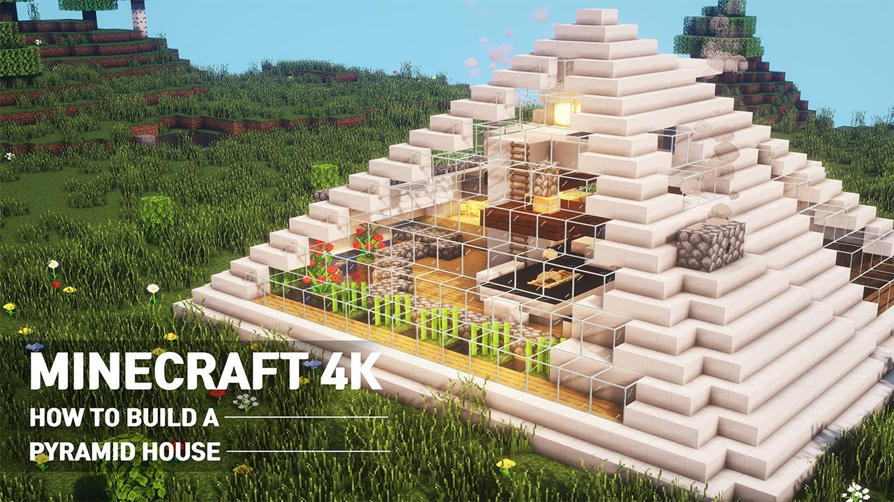 A Real Architect S Building Houses In Minecraft Tutorial How To Build Pyramid Modern House 96 Youtube