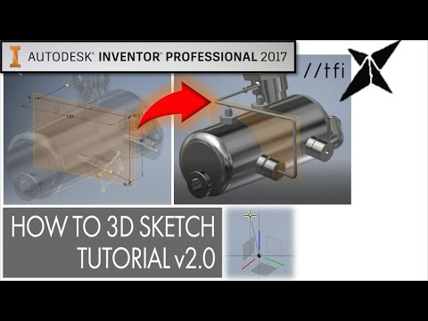 How to 3D Sketch [v2.0] 2017 | Autodesk Inventor