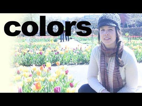Keukenhof Garden and Color Names -- American English