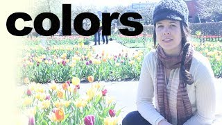 Keukenhof Garden and Color Names -- American English