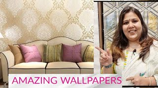 RIGHT WALLPAPERS MAKE AMAZING DESIGN IDEAS | FEATURE WALL INTERIOR  SOLUTION | RED & WINE NEW DELHI