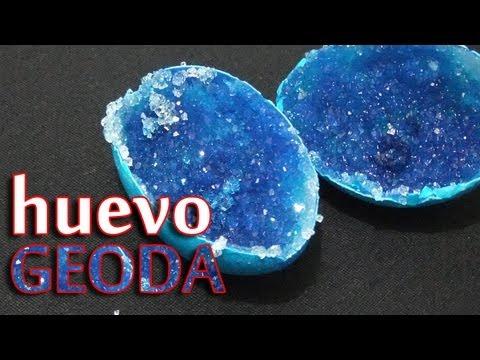 Huevo Geoda  │Hacer cristales en un huevo│ Experimento