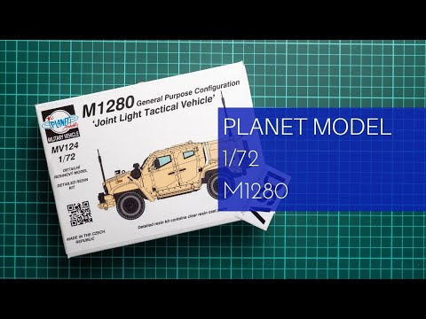 PLANET MODELS MV124 US Military M1280 JLTV Vehicle Full Resin Kit in 1:72