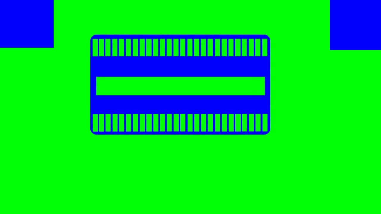 card widget in green screen free stock footage