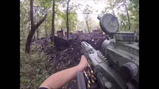 Airsoft War (Battlefield Rush Game Mode) Attack and Defend perspective.