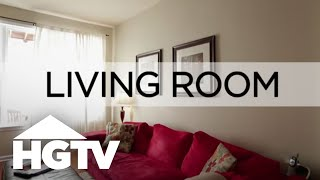 How to Decorate a Living Room for Cheap | HGTV