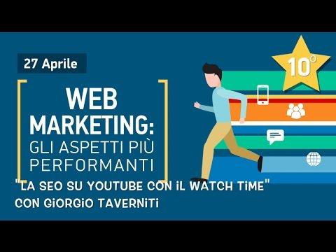 """""""Video Content: la SEO su YouTube con il Watch Time"""" con Giorgio Taverniti"""
