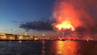 Салют в Санкт Петербурге в честь дня Победы 2017 #BlackArrow #День Победы