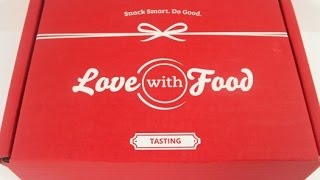 """Love with Food August 2015 Tasting Box Review  """"Road Trip"""" + Coupon Codes"""