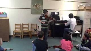 Sam plays Seitz Concerto No. 5, 1st Movement