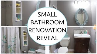 DIY Small Bathroom Renovation Final REVEAL!