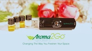 NEW - Aroma2Go USB Ultrasonic Air Freshener commercial