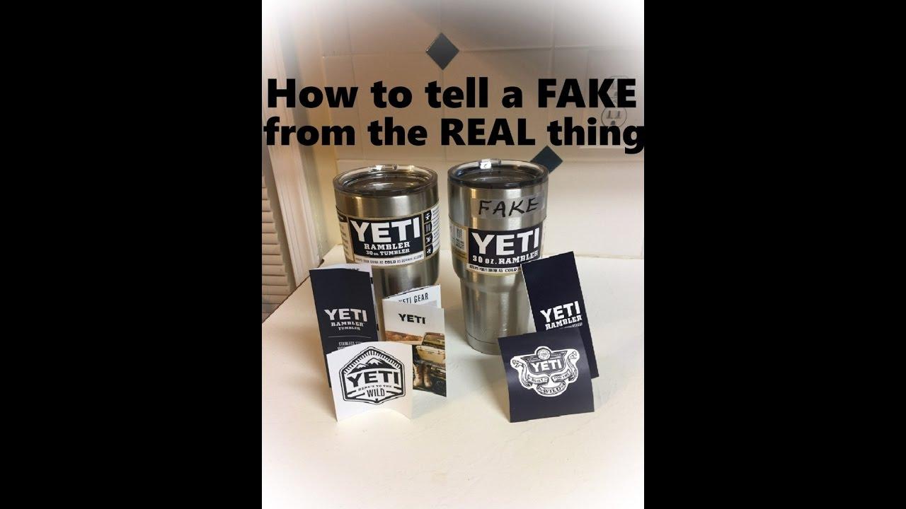 How to spot a fake / counterfeit YETI Tumbler