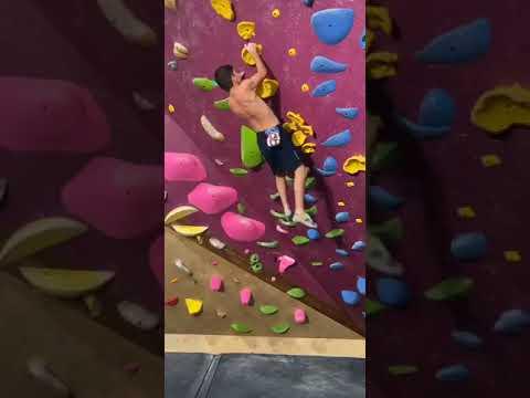 Canvas Climb At Crux Climbing Center In Austin Texas