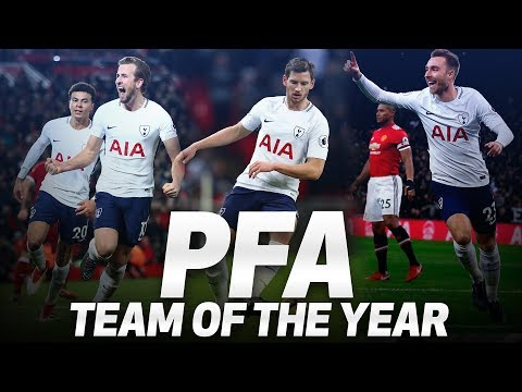 HARRY KANE, CHRISTIAN ERIKSEN & JAN VERTONGHEN | PFA TEAM OF THE YEAR 2017/2018