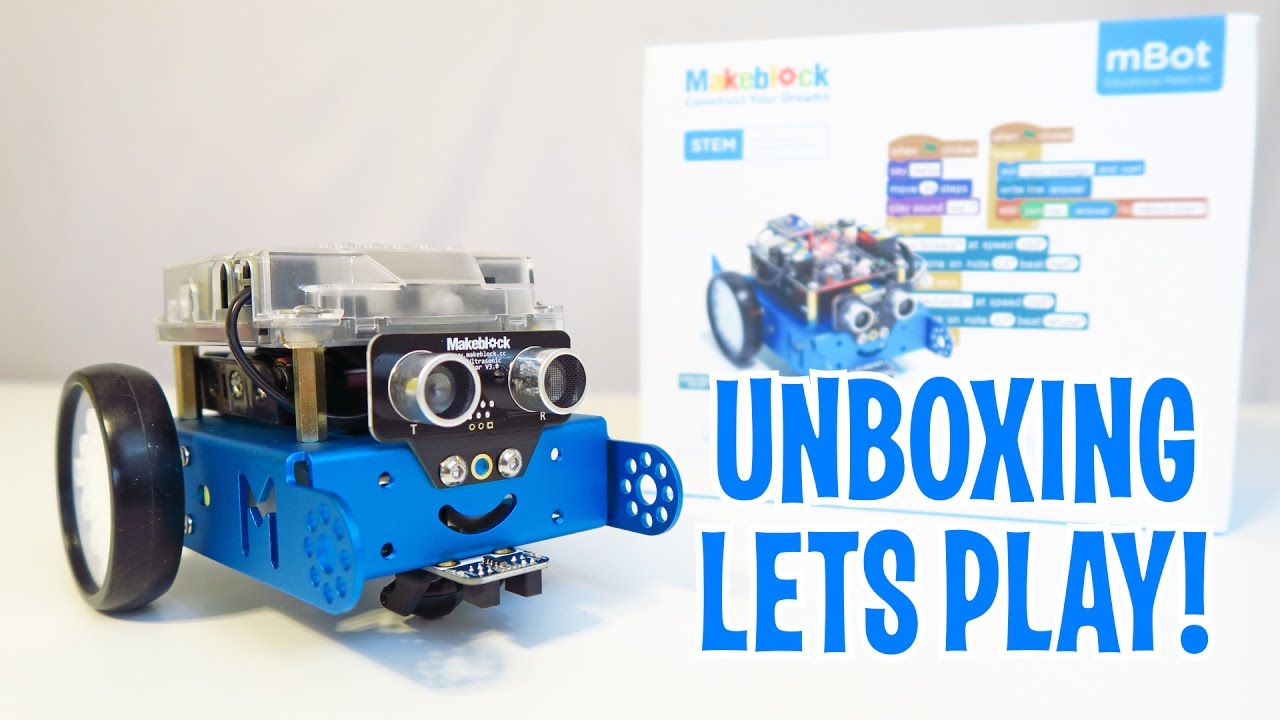 Unboxing & Let's Play - mBot - Robot Kit Review - by KhanFlicks