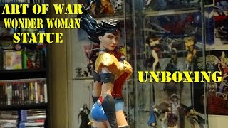 DC Collectibles Art of War Wonder Woman Statue Unboxing