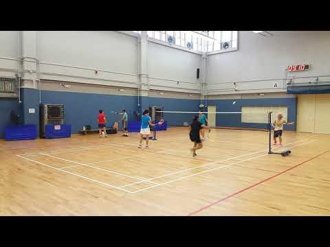 20190620_皇府會羽毛球 球友半場單打比賽練習