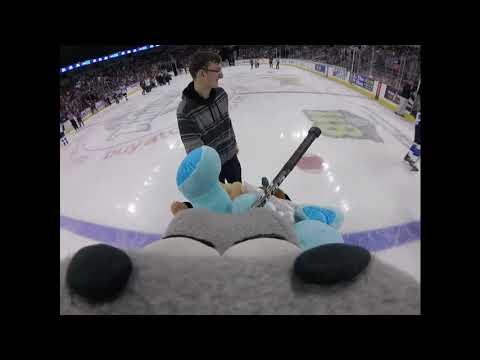 Teddy Bears Came Raining Down! - Wichita Thunder Mascot Go-Pro Footage
