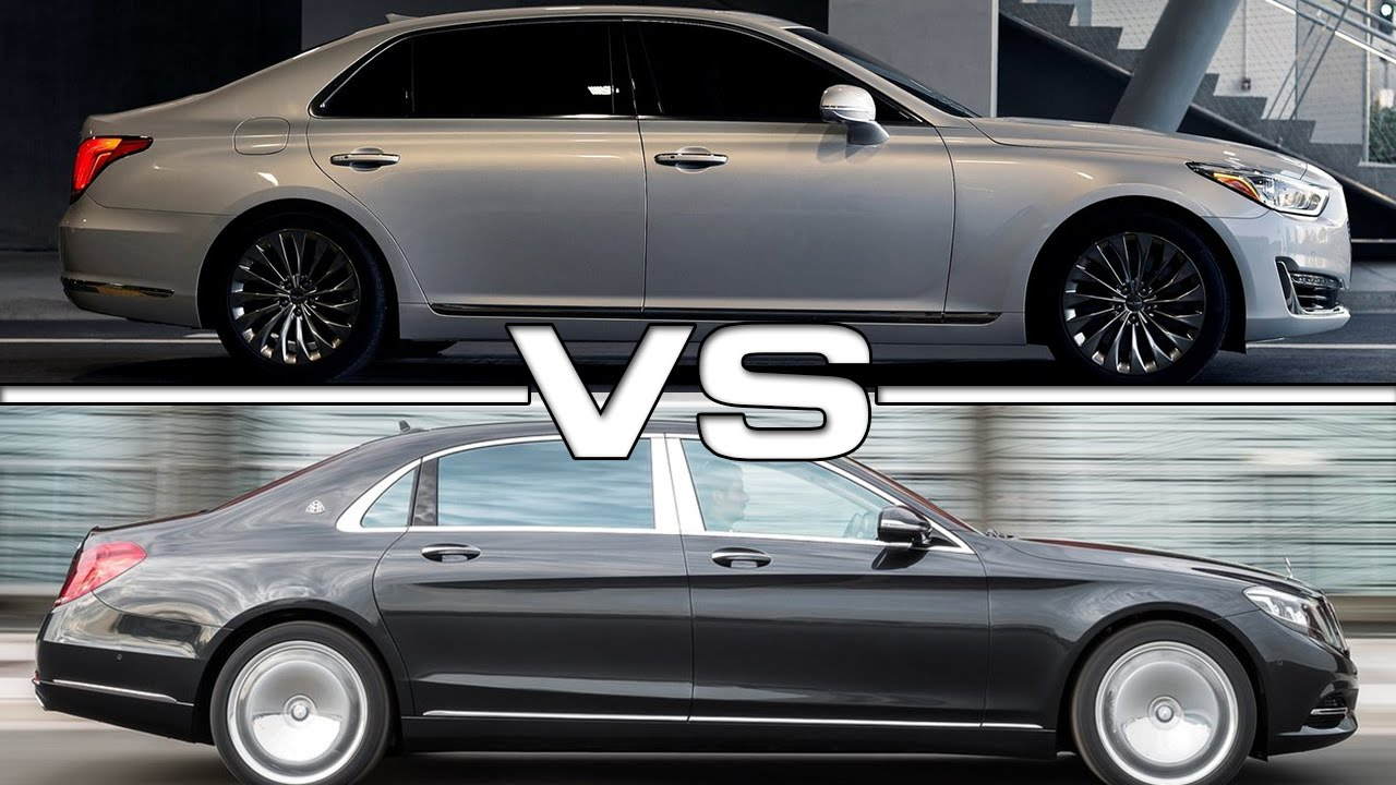hyundai genesis g90 vs mercedes maybach s600 youtube. Black Bedroom Furniture Sets. Home Design Ideas