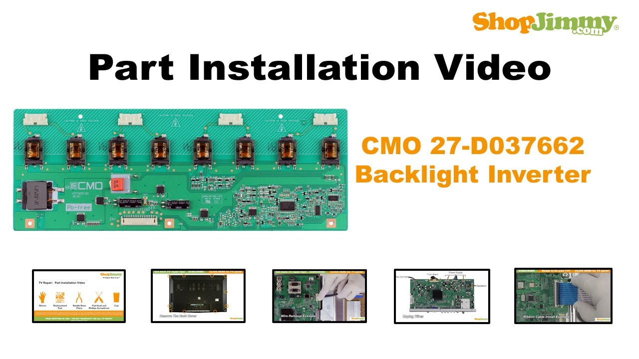 How to Replace a CMO Backlight Inverter Board in a LCD TV - YouTube