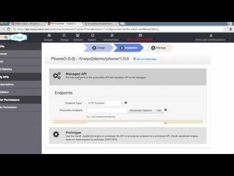 Create a simple API and publish to your web portal, WSO2 API Cloud Tutorial 1