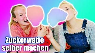 ZUCKERWATTE SELBER MACHEN Cotton Candy CHALLENGE - NINA VS KATHI Wer macht die beste Zuckerwatte?
