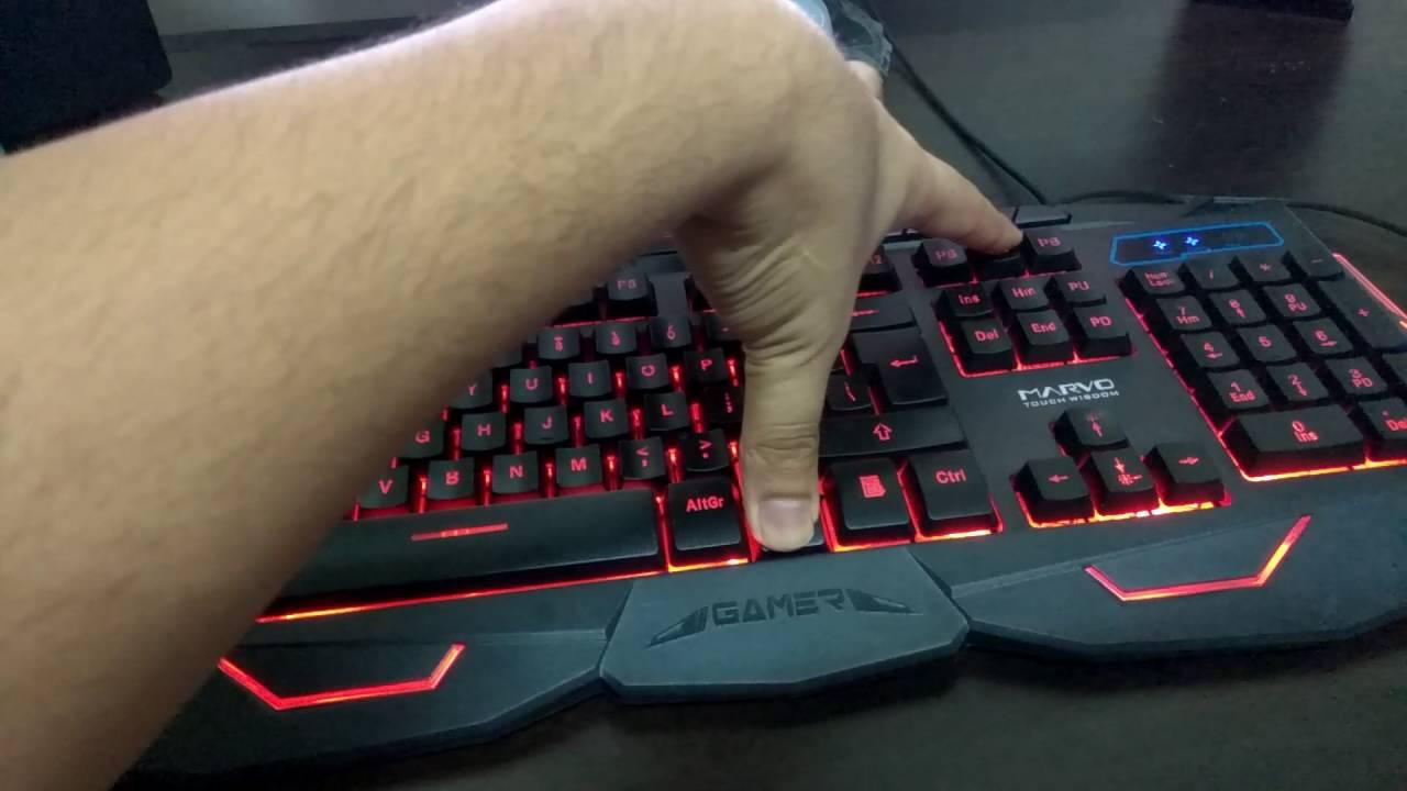 949fc93d449 Budget Gaming Keyboard : Scorpion Marvo KM400 USB Wired - YouTube
