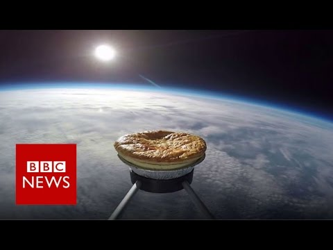 'Space pie' soars above Earth's crust - BBC News on YouTube
