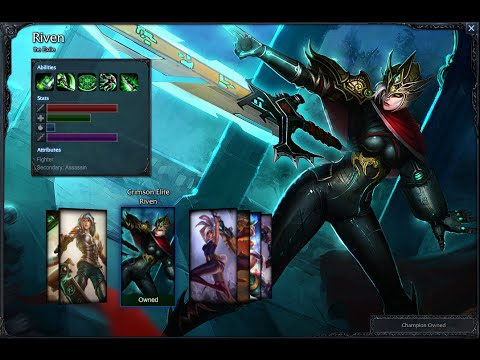 Crimson Elite Riven Skin Spotlight Gameplay 1080p HD ...