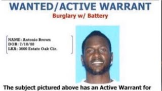 """Antonio Brown Considered """"armed & Dangerous"""" As Police Put Out An Arrest Warrant"""