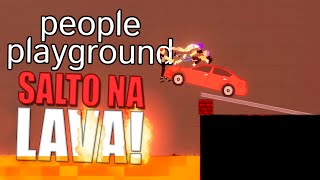 Cuidado com a Lava no People Playground (Boneworks 2d)