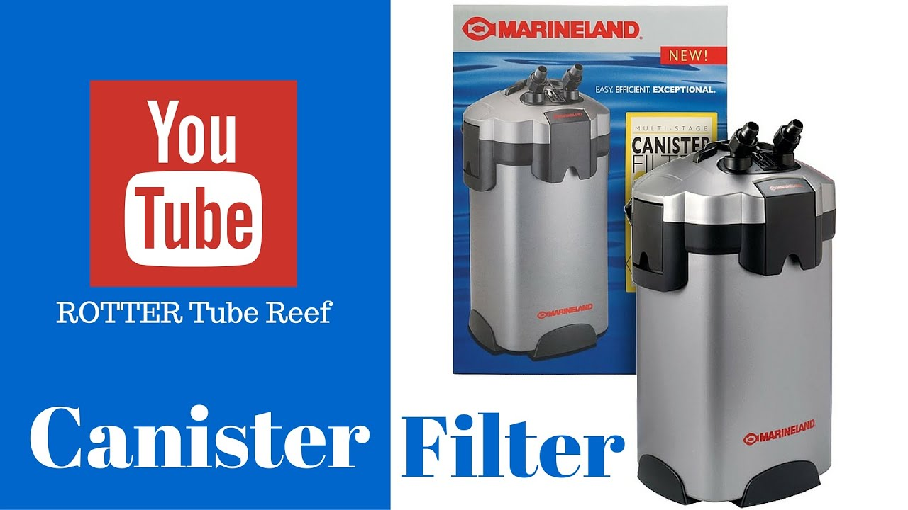 canister filter setup in saltwater aquarium rotter tube reef