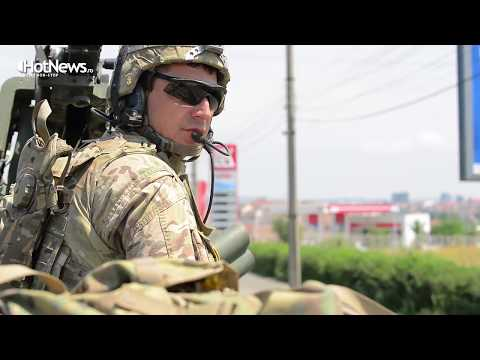 """The """"Dragoon"""" march in Romania - 2nd Cavalry convoy during Saber Guardian 17"""