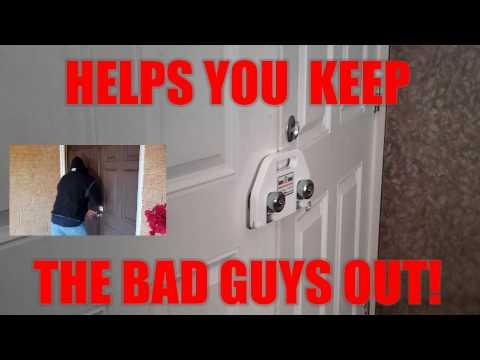 Sure-Shut Double Door Security Device