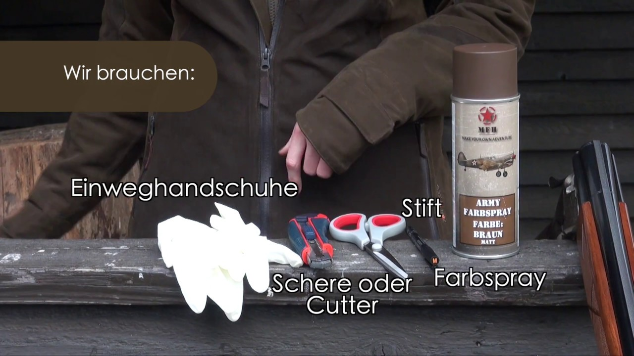Jungjäger Blog Schneetarn Anzug Selber Basteln Youtube