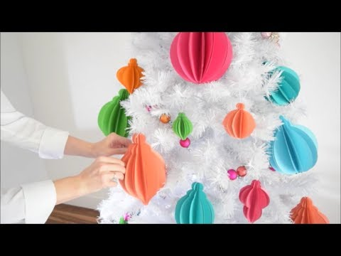 DIY 3D Paper Christmas Ornament Tutorial