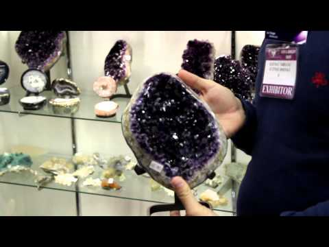 Best Amethyst in the world from Uruguay at JOGS Tucson Gem a